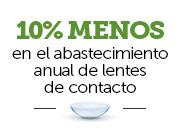 oferta de pearle vision - 10% de descuento en un suministro anual de lentes de contacto