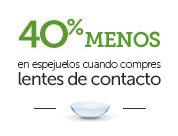 oferta de pearle vision - 40% de descuento en gafas, si compras lentes de contacto